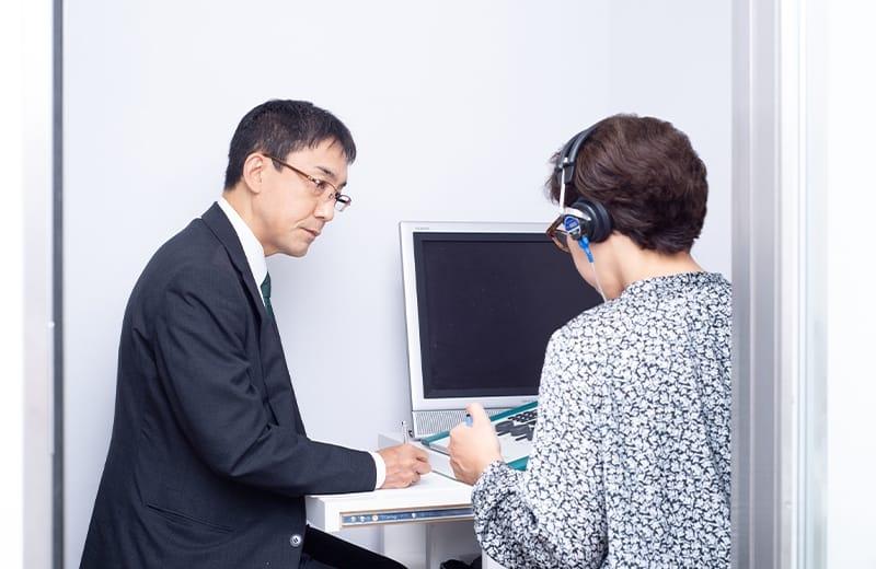 調整のための聴力測定